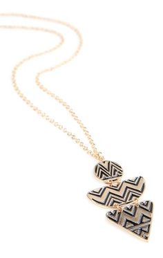 Deb Shops Long Necklace with Aztec Pendant $8.00