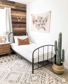 Cozy cream and grey shag rug for a boys bedroom. Black iron bed and rustic farmhouse decor. The Best Budget Friendly Neutral Rugs – Valley + Birch Boy Toddler Bedroom, Kids Bedroom, Bedroom Decor, Kids Rooms, Boy Rooms, Room Kids, Bedroom Furniture, Toddler Rooms, Kid Furniture