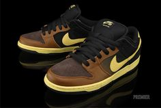new style bd1af fb4ac Nike Black and Tan SB Dunks. Already sold out at my sneaker shop.
