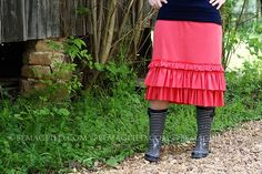 Coral Pink Ruffled Skirt  www.bemagpied.com