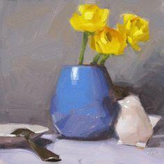 """""""A Little Birdie Told Me"""" original fine art by Carol Marine"""