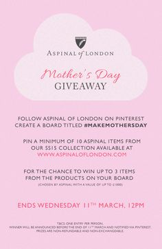 Aspinal of London competition Create A Board, Aspinal Of London, Happy Mothers Day, Competition, Encouragement, Projects To Try, Place Card Holders, How To Make, Giveaway