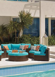 Fun outdoor furniture makes for better summer parties!
