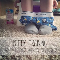 Things to remember when you feel like you've hit a potty training wall.