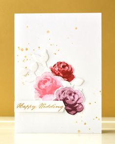 The Roses from Vintage Roses were stamped using generation stamping technique.