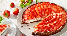 Aardbeien-mascarponetaart Lidl, Rasp, Chocolate, Chips, Food And Drink, Cooking Recipes, Ethnic Recipes, Desserts, Mascarpone