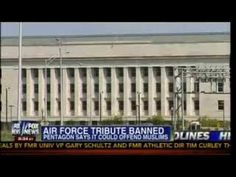 Air Force Tribute Banned! - Pentagon Says It Could Offend Muslims!!! - Mass Tea Party· - Published on Jun 8, 2013 - The Destruction Of United States Of America!!!! Wake Up America Your Nation Is In Great Danger!! Air Force Tribute Banned - Pentagon Says It Could Offend Muslims - ***WOW!!! SO IT WASN'T ENOUGH FOR CHRISTIANS TO BE TARGETED BY ATHEISTS, NOW IT'S ABOUT OFFENDING MUSLIMS!!! WONDER HOW THE ATHEISTS FEEL ABOUT THE MUSLIMS???