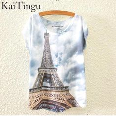Eiffel Tower Printed Top Price $25.09 AUD GO HERE----> @soulkreedclothing and click link in bio. Sign up to  newsletter and get 15% off! Clothing Length: Regular Sleeve Style: Regular Pattern Type: Print Style: Fashion Brand Name: KaiTingu Fabric Type: Knitted Material: Cotton,Polyester Collar: O-Neck Sleeve Length: Short  #womensfashion #womensstyle #womenstyle #womenswear #womensclothing #womensclothes #womenstops #womenshirt #girlstops #girlsshirts #girlstrend #gir..