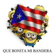 """the minions con la bandera de PUERTO RICO :D """"QUE BONITA MI BANDERA""""."""
