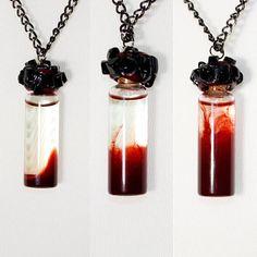 Dragon's Blood Witch Bottle Pendant Necklace Vial