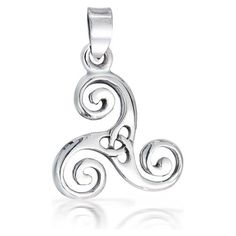 The Celtic Swirl Triskele/Trinity Knot.   This Celtic pendant is a sign of maiden, mother and crone, female power inspired.   The Celtic Triskele pendant is for all the strong mothers, feisty daughters, and loyal and trusting best gal friends.