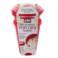 4-Cup Microwave Popcorn Maker (Set of 2)