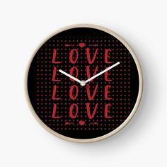 Promote | Redbubble Clock, Home Decor, Love Design, Watch, Decoration Home, Room Decor, Clocks, Home Interior Design, Home Decoration