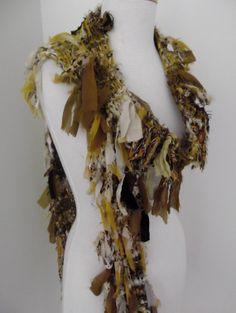 Recycled Silk Chiffon Ribbon Scarf