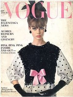 Vintage Vogue magazine covers - I remember this cover from my fashion design class in 1963.