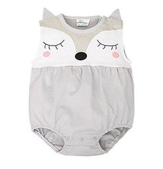 Baby Boy Girl Romper Summer Sleeveless Cute Fox Newborn O...…