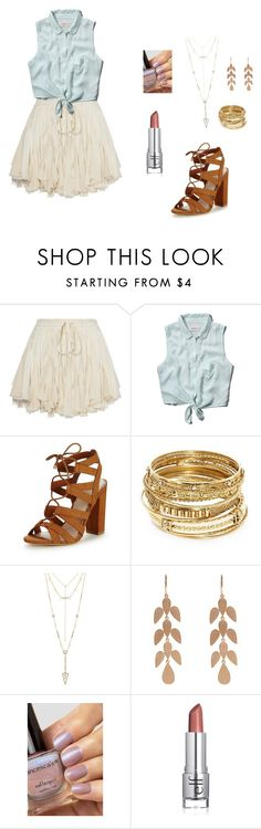 """Country Summertime"" by just-emma99 ❤ liked on Polyvore featuring Abercrombie & Fitch, Lipsy, ABS by Allen Schwartz, House of Harlow 1960, Irene Neuwirth and country"