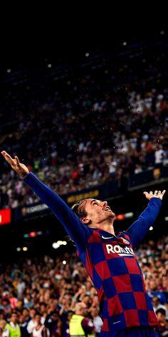 Griezmann in Camp Nou ⚽️🔥 ! Barcelona Futbol Club, Barcelona Players, Lionel Messi Barcelona, Barcelona Football, Antoine Griezmann, Messi Pictures, Football Pictures, Cristiano Ronaldo Juventus, Messi And Ronaldo