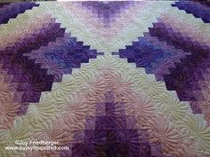 Purple bargello