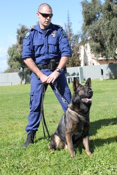 Police dog Oscar and handler.