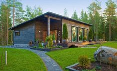 Container House Design, Small House Design, Cottage Design, Cottage Garden Sheds, Farm Cottage, Build My Own House, Building A House, Backyard Guest Houses, Contemporary Cabin