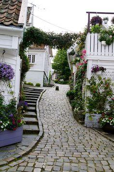 Narrow streets of Stavanger   Flickr - Photo Sharing!