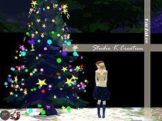 Studio K Creation: Christmas tree with decor light set • Sims 4 Downloads
