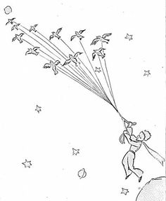 Bird migration coloring pages ~ Snake Swallows Elephant coloring page from Little Prince ...