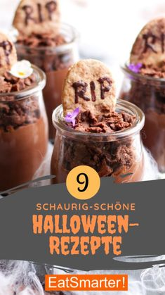 Halloween Brownies, Halloween Desserts, Halloween Party, Halloween Gesicht, Fingerfood Party, Cupcakes, Eat Smarter, Party Drinks, Ariana Grande