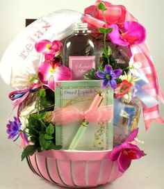 """Expecting Mother Soothing Spa Gift Basket   Great Baby Shower Gift Idea for Mom! by Organic Stores. $69.92. Send the gift of joy to the expecting mother on your list!. This gift basket for the Mom-to-be includes: a """"Great Expectations"""" note pad and pen set, soothing satin eye mask, vanilla bubble bath, vanilla coconut soothing lotion, fine chocolates, toffees, yogurt pretzels, cookies, and much more!. Include a free personalized gift message for your clients, friends, and loved..."""