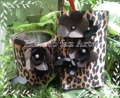 latinha reciclada , caixinha de leite reciclada e decorada com e.v.a Fashion