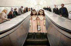 A Pair of Creepy Life-Sized Victorian Dolls Spook, Surprise and Confuse the Commuters of London