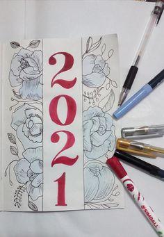 Feliz 2021! Bullet journal 2021_ portada 2021 Bullet Journal Aesthetic, Bullet Journal Writing, Bullet Journal School, Bullet Journals, Disney Stitch, Study Ideas, Journal Ideas, Ideas Para, Doodles