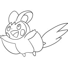 Emolga With Images Coloring Pages Color Mom Junction