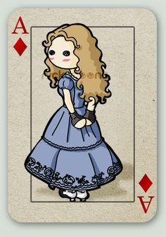 Tim Burton's Alice card series. Alice.