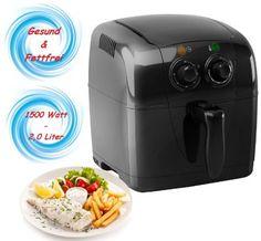 Heißluft Fritteuse Airfryer Fritöse Friteuse Heissluft Frittöse 1.500 Watt 4in1…