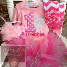 Baby Girl First Birthday Outfit Winter by DarlingLittleBowShop