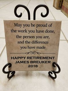 Thin Tile Plaque Retirement Gift Art Decor Boss Coworker Teacher gift Truly great mentor Custom Personalized Present Tile Art Decor - Gift Guides Principal Retirement, Military Retirement Parties, Teacher Retirement Parties, Retirement Gifts For Men, Retirement Decorations, Retirement Celebration, Retirement Party Decorations, Retirement Cakes, Retirement Ideas