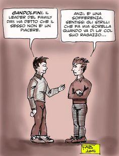 """Massimo Gandolfini: """"il sesso non è un piacere""""..."""