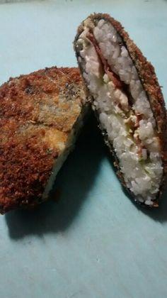 Sushi sandwich de pollo tocino