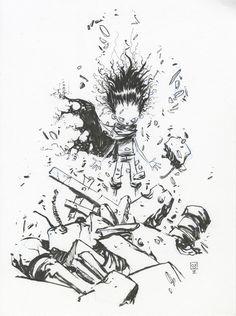 yes akira you were the best. AKIRA Geek Art by Skottie Young - News - GeekTyrant Comic Book Artists, Comic Artist, Comic Books Art, Skottie Young, Akira, Pen Illustration, Young Art, Cg Artist, Fantasy