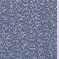 Denim Blue Floral Voile - 27353 - Fabric By The Yard At Discount Prices Floral Fabric, Floral Prints, Blue Denim, Yard, Silk, Floral Patterns, Flower Prints, Garten, Front Yards