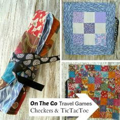 Fun and Festive Sewn Travel Games I think for the checkerboard I'd pick different fabrics in two basic colors so it looks more like a checkerboard.