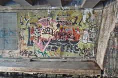 #2. By 2006, the piece had been heavily abused. Scrawled, sprayed, tagged, the original was barely visible.