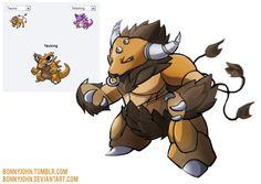 Pokemon fusion Tauking