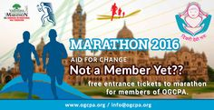Marathon 2016- aid for change......not a member yet?? free entrance tickets to marathon for members of OGCPA... http://ogcpa.org/