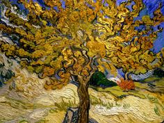 Vincent Van Gogh - The Mulberry Tree 1889 fine art preproduction . Explore our collection of Vincent Van Gogh fine art prints, giclees, posters and hand crafted canvas products Art Van, Van Gogh Art, Vincent Van Gogh, Claude Monet, Desenhos Van Gogh, Van Gogh Pinturas, Painting Prints, Art Prints, Painting Art