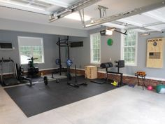 Lots of windows, lots of space. great garage gym. This is probably a nice looking house as well
