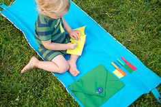 Sewing Secrets: DIY Outdoor Reading & Craft Mat for Kids