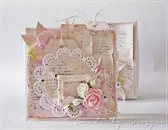 Dzisiaj chciałam Wam pokazać kartkę w pudełku - pamiątkę ślubu, w bardzo romantycznym klimacie shabby.  Papiery UHK Gallery Mademoiselle  or...